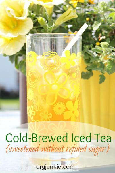 Cold-brewed iced tea