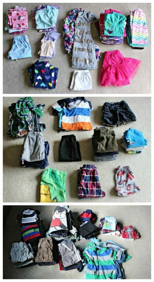 capsule-wardrobe-sorting-piles-collage