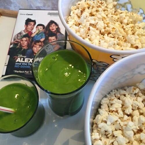 smoothies and popcorn