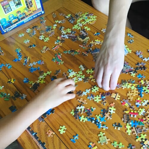 Puzzle with boys