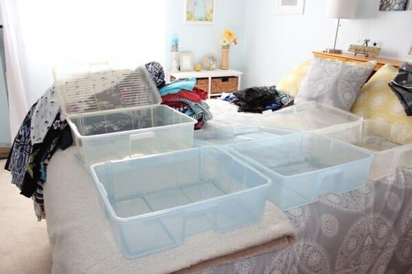 empty clothes bins