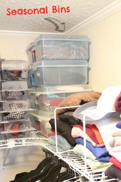 seasonal clothes bins