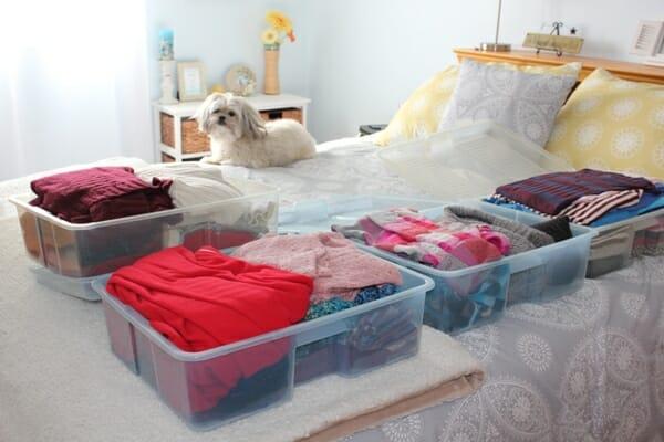 seasonal storage clothes bins