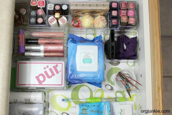 Bathroom Drawer Organization After