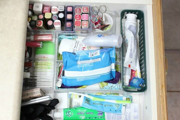 Bathroom Drawer Organization Before