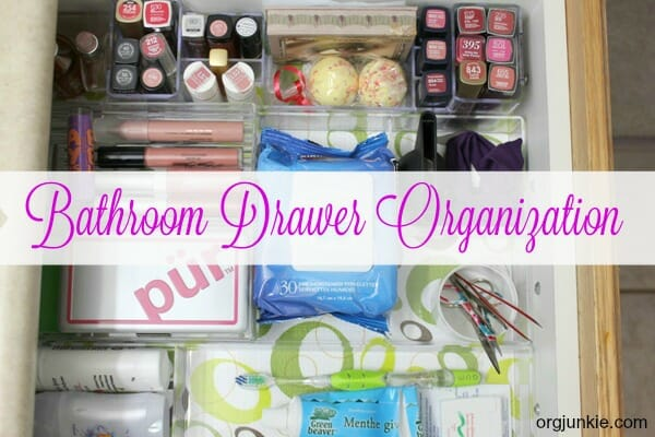 Bathroom Drawer Organization at orgjunkie.com