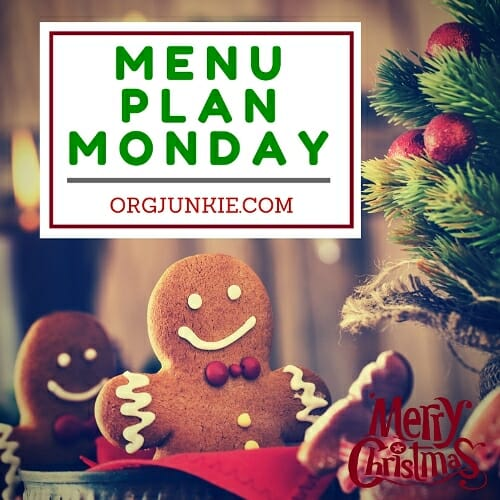 Christmas Menu Plan Monday for the week of Dec 19/16 - recipes and menu planning inspiration for a stress and chaos free week at I'm an Organizing Junkie blog