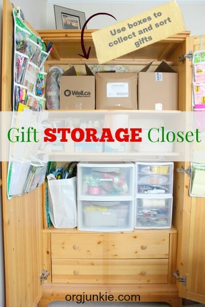 Gift Storage Armoire and Gift Tracking and Budget App