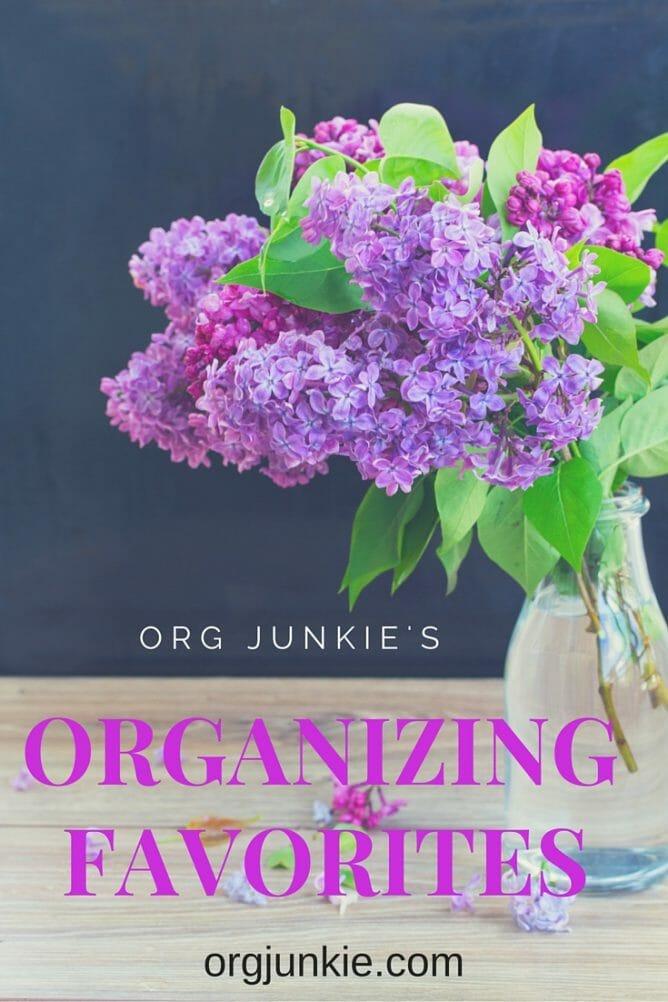 Org Junkie's Organizing Favorites - Oreck, Clutter Blindness, Free Planner Printables + more!