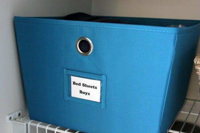 linen closet bins
