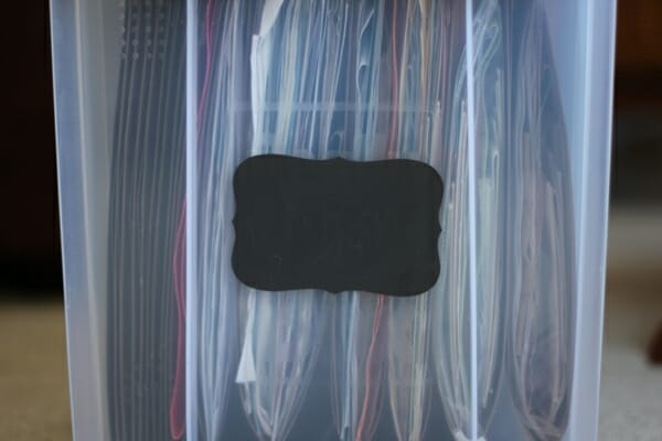 Chalkboard Labels for File Boxes