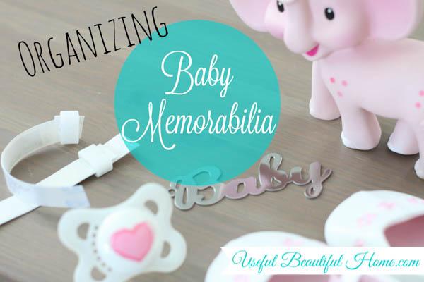 A beautiful way to organize baby memorabilia at I'm an Organizing Junkie blog