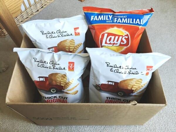 box of potato chips