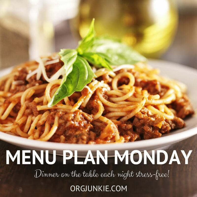 Menu Plan Monday for the week of October 10/16 because dinner doesn't have be complicated or stressfull!!!