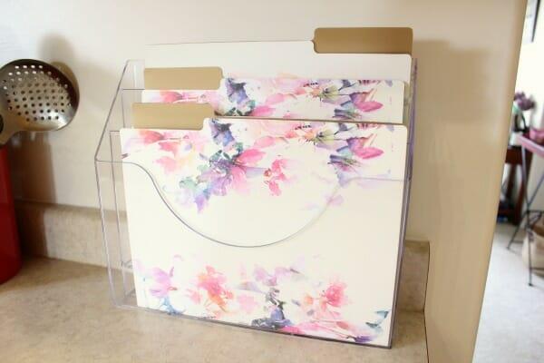 acrylic paper organizer