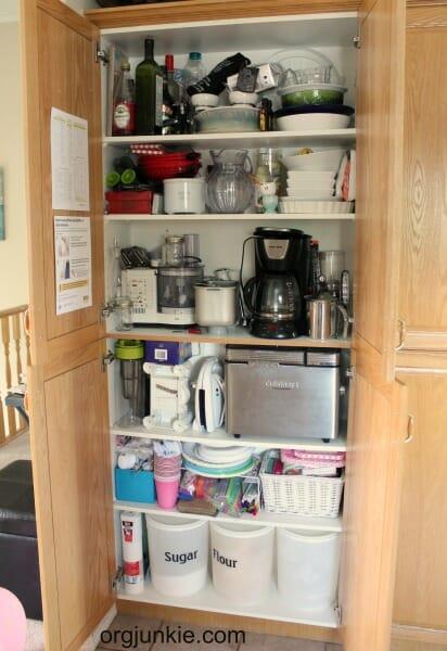 kitchen cupboard before