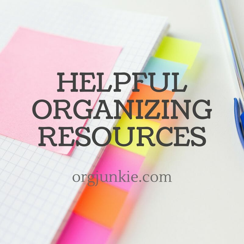 Helpful organizing resources and recap for the month of May 2017 to help you get organized at I'm an Organizing Junkie blog