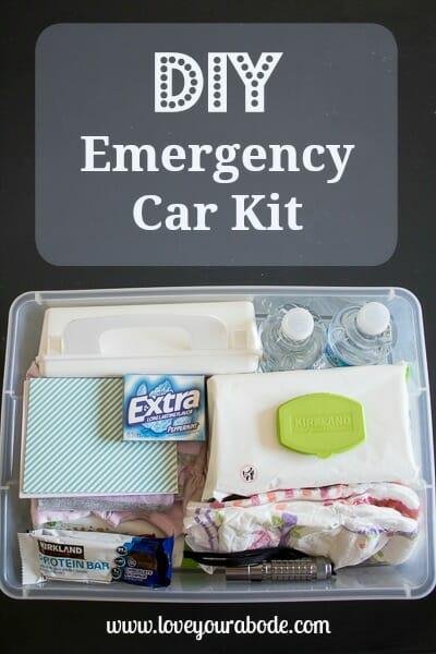DIY Car Emergency Kit - organized essentials for your vehicle - I'm an Organizing Junkie blog