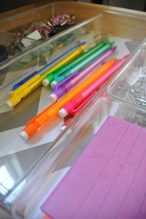 organized drawer at I'm an Organizing Junkie blog