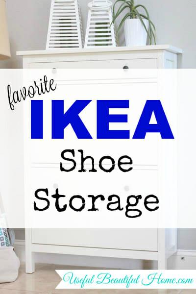 My Favorite Ikea Shoe Storage at I'm an Organizing Junkie blog
