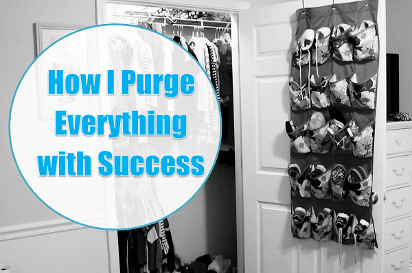 How I Purge Everything with Success at I'm an Organizing Junkie blog