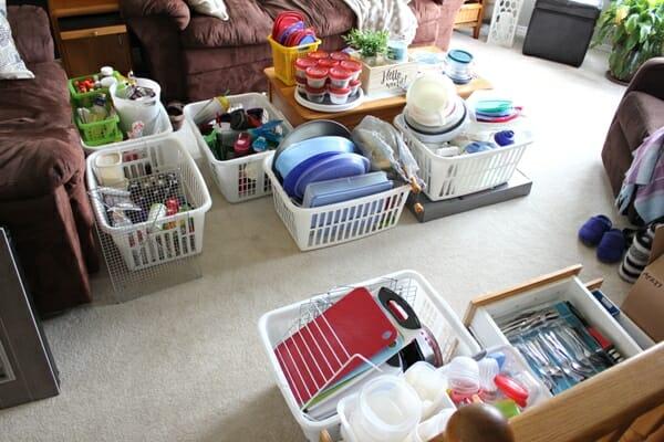 laundry basket organization