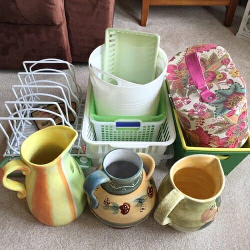 this week's purge pile at I'm an Organizing Junkie blog