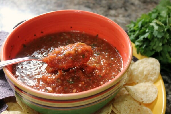 Quick homemade salsa