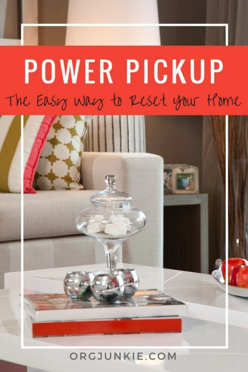 The Power Pickup Process - the easy way to reset your home