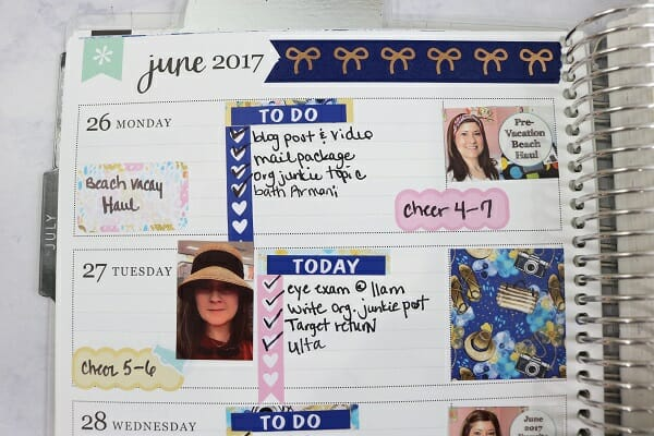 The Six Ways I Use My Paper Planner to Keep Organized at I'm an Organizing Junkie blog