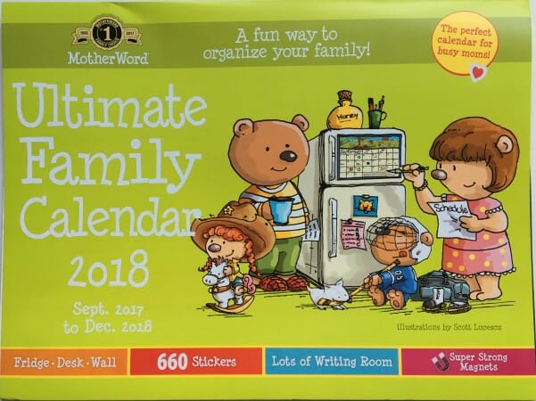 Ultimate Family Calendar 2018 - the best fridge calendar