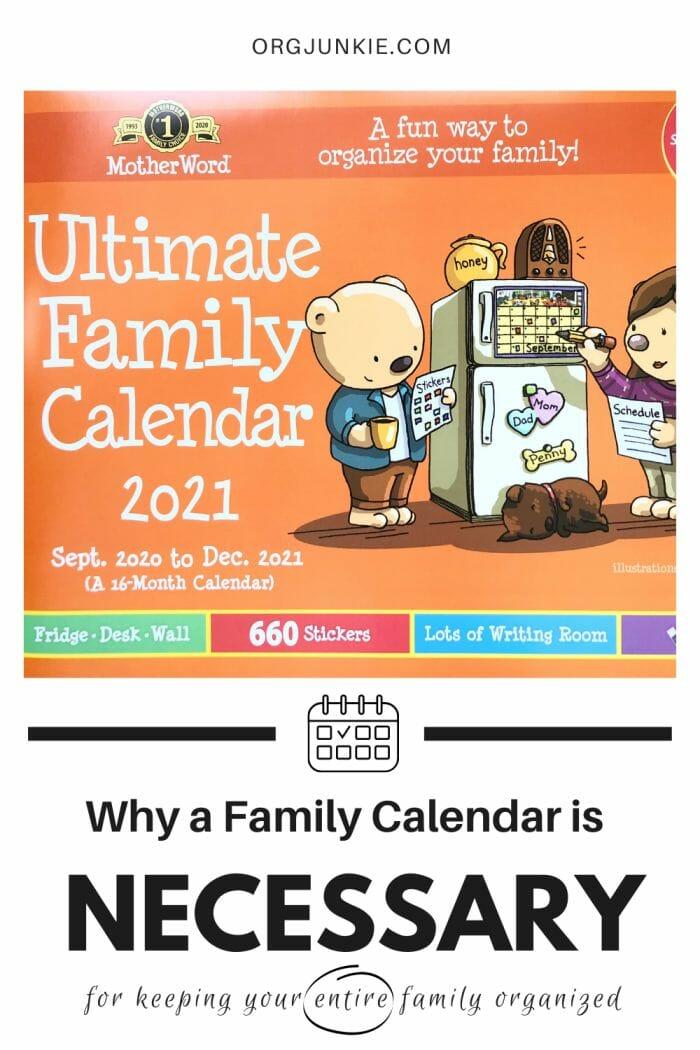 Why a Family Calendar is Necessary