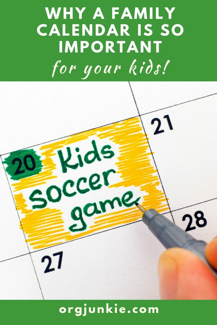 The #1 Reason You Absolutely Need a Family Calendar
