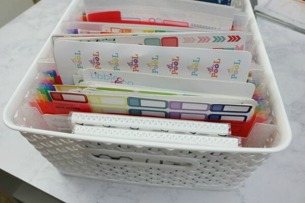 Planner Supplies Organization Ideas to help you get organized at I'm an Organizing Junkie blog