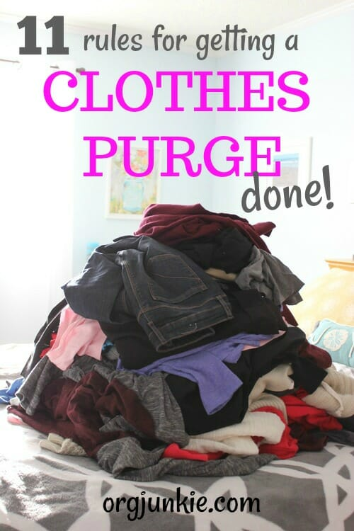 11 Rules for Getting a Clothes Purge Done