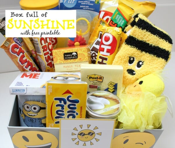 Care package ideas for your college kids - free printable
