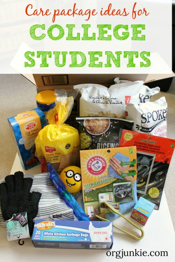 Care package ideas for your college kids - 3 essential elements & a free printable at I'm an Organizing Junkie