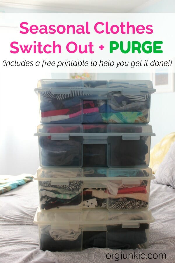 Seasonal Clothes Switch Out & Purge at I'm an Organizing Junkie blog
