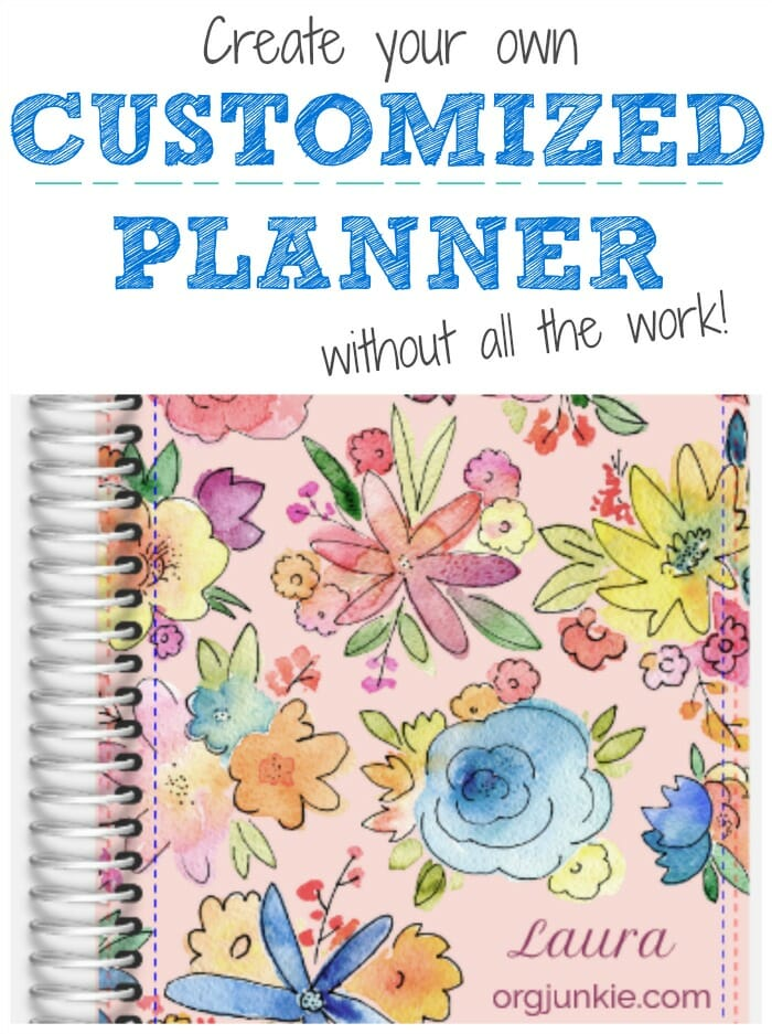 Create Your Own Customized Planner Without all the Work with Purple Trail at I'm an Organizing Junkie blog