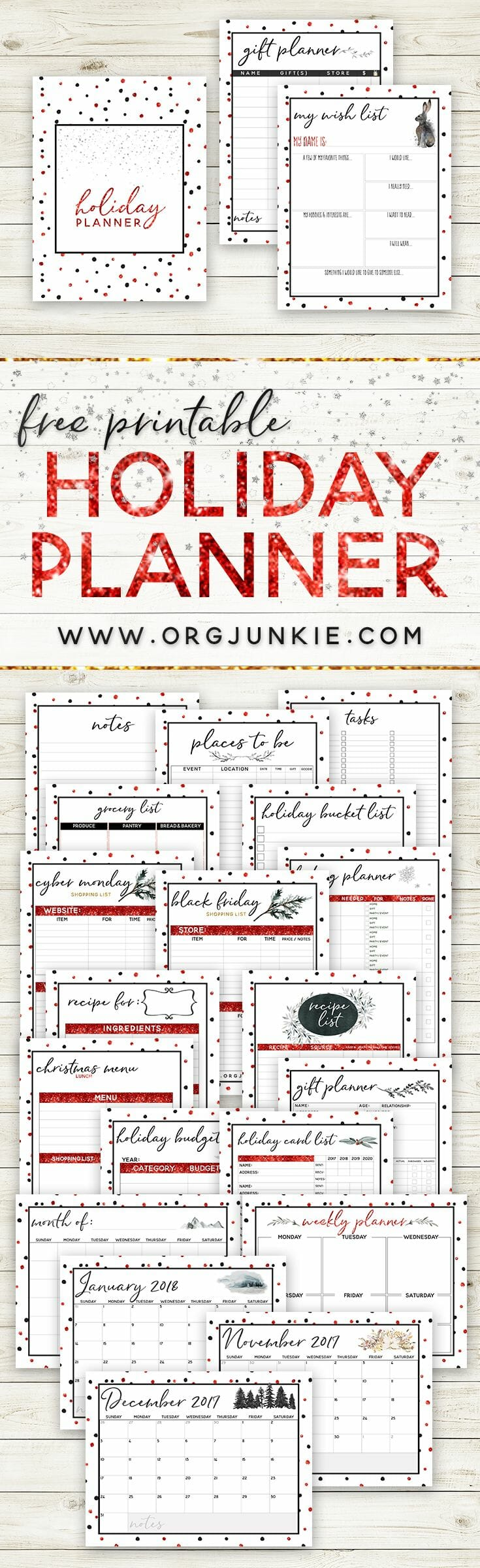 2017 Free Holiday Planner 27 Printables For An Organized Christmas