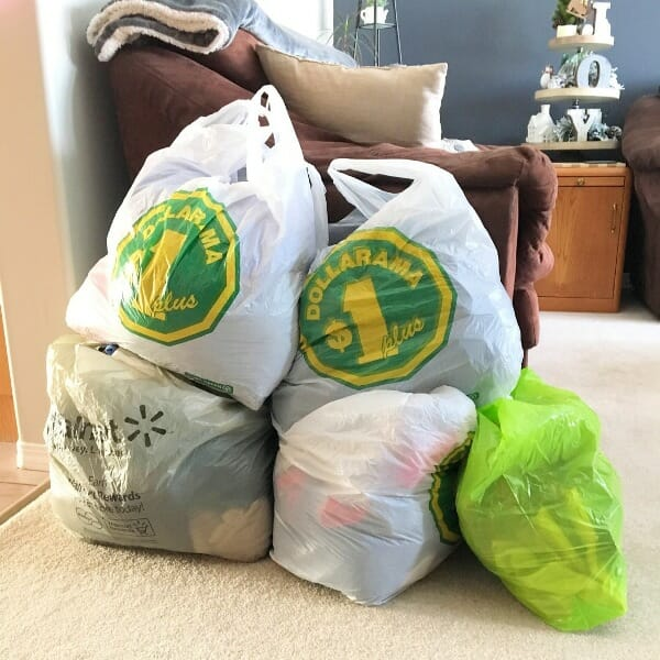 My clothes purge pile 2018