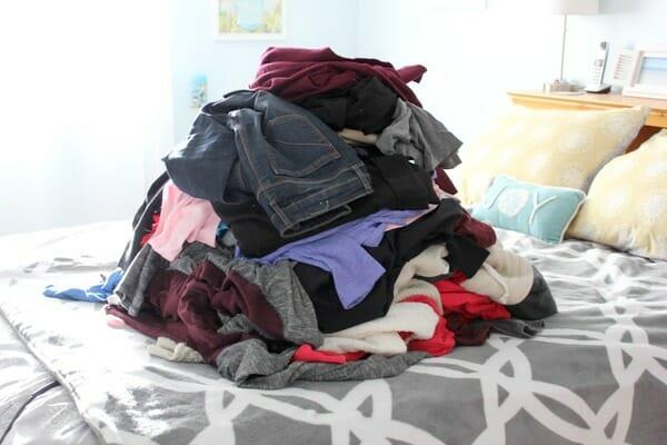 clothes purge Jan 2018