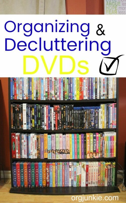 Small Organized Spaces: Organizing & Decluttering DVDs at I'm an Organizing Junkie blog