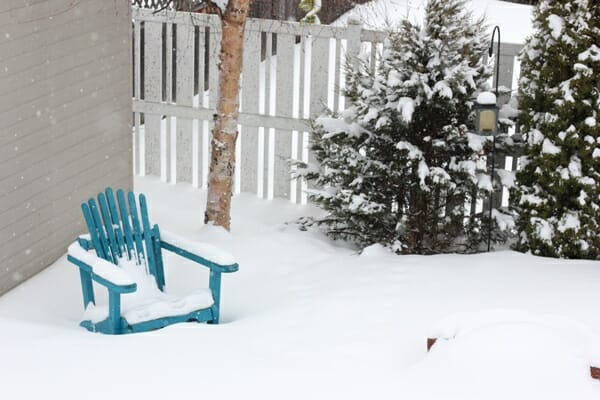 winter in March in norther Canada