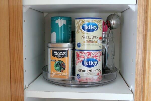 organizing steps - storage solutions