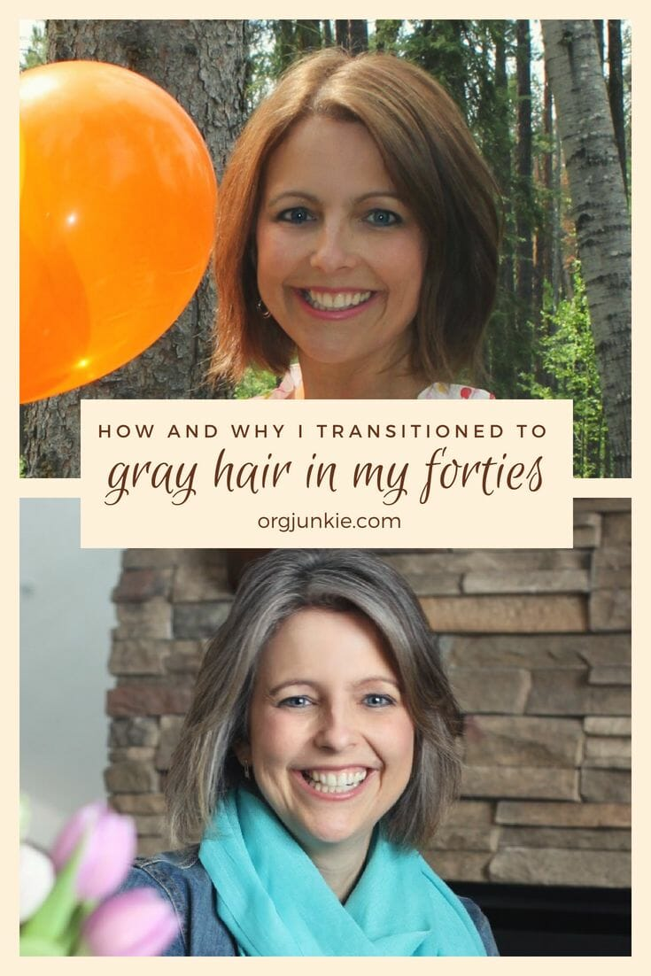 How and why I transitioned to gray hair in my forties - my unexpected results!