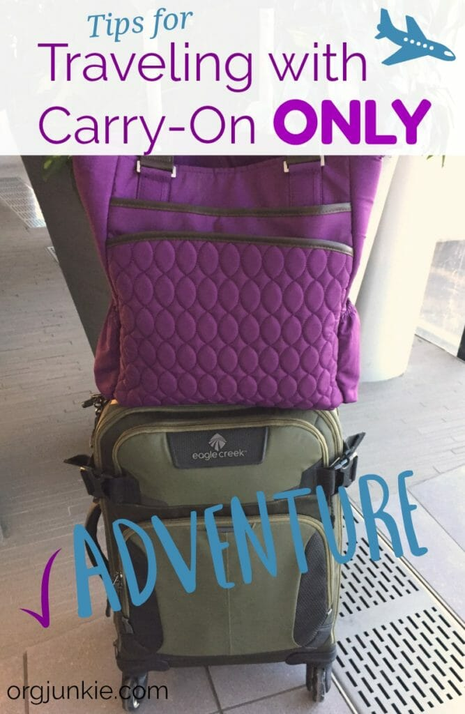 Tips for Traveling with Carry-On Only