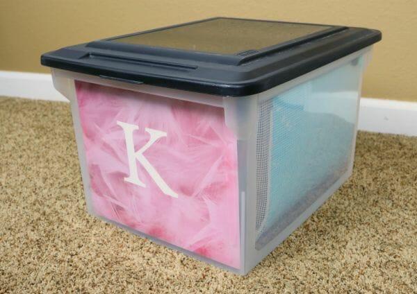 Organized School Memory Storage Boxes at I'm an Organizing Junkie blog