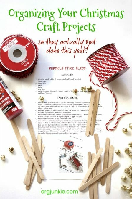Organizing Your Christmas Craft Projects