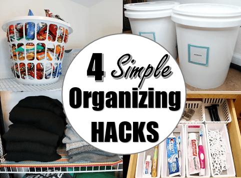 4 Simple Inexpensive Organizing Hacks
